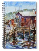 At Monterey Wharf Ca Spiral Notebook