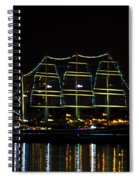At Night On The  Delaware River - The Mushulu Spiral Notebook