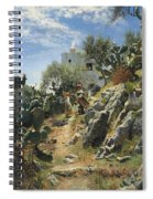 At Noon On A Cactus Plantation In Capri Spiral Notebook