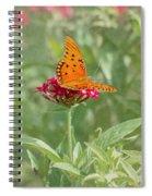 At Rest - Gulf Fritillary Butterfly Spiral Notebook