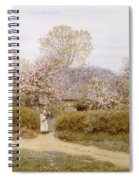 At School Green Isle Of Wight Spiral Notebook