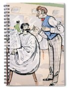 At The Barber And Reading Le Jockey Spiral Notebook