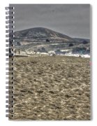 At The Beach At Pacifica Spiral Notebook