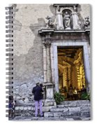 At The Church - Child's Curiosity - Sicily Spiral Notebook