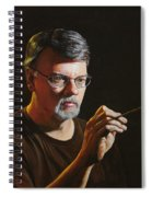At The Easel Self Portrait Spiral Notebook