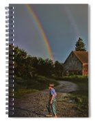 At The End Of A Rainbow Spiral Notebook