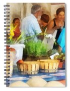 At The Farmer's Market Spiral Notebook