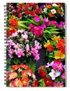 At The Flower Market  Spiral Notebook