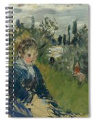 At The Meadow. Vetheuil Spiral Notebook