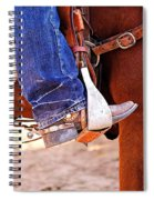 At The Rodeo Spiral Notebook
