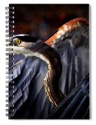 At Waters Edge - Great Blue Spiral Notebook