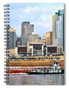 At Work On The Ohio River Spiral Notebook