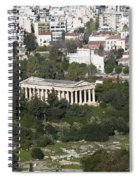 Athens Cityscape  Spiral Notebook