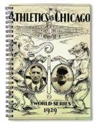 Athletics Vs Chicago 1929 World Series Spiral Notebook