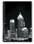 Atlanta Black And White Night Spiral Notebook