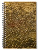 Atlanta Georgia City Schematic Street Map 1892 On Recovered Worn Parchment Paper Spiral Notebook