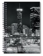 Atlanta Panoramic Black And White Spiral Notebook