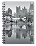 Atlanta Reflecting In Black And White Spiral Notebook