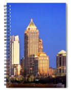 Atlanta Skyline At Dusk Midtown Color Panorama Spiral Notebook