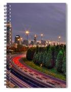 Atlanta Sundown Night Lights Art Spiral Notebook