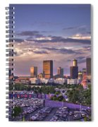 Atlanta Sunset Fulton County Stadium Braves Game  Spiral Notebook