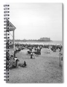 Atlantic City Beach, C1900 Spiral Notebook