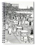 Atlantic City Boardwalk 1940 Spiral Notebook