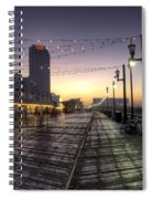 Atlantic City Boardwalk In The Morning Spiral Notebook