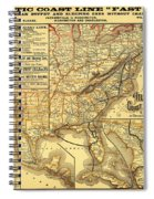 Atlantic Coast Line Railway Map 1885 Spiral Notebook