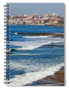 Atlantic Ocean Coast In Cascais And Estoril Spiral Notebook