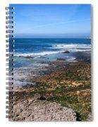 Atlantic Ocean Shore In Estoril Spiral Notebook