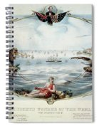 Atlantic Telegraph Cable Spiral Notebook