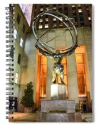 Atlas In Rockefeller Center Spiral Notebook