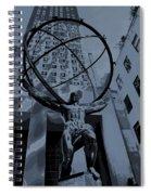 Atlas Rockefeller Center Poster Spiral Notebook