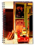 A T M And Sled Spiral Notebook