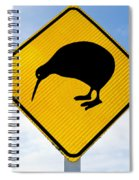 Attention Kiwi Crossing Road Sign Spiral Notebook