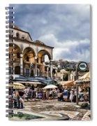 Attiki Metro Station Athens Spiral Notebook