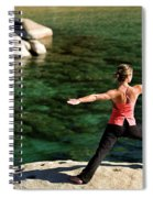 Attractive Woman Doing Yoga Spiral Notebook