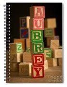 Aubrey - Alphabet Blocks Spiral Notebook