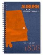 Auburn University Tigers Auburn Alabama College Town State Map Poster Series No 016 Spiral Notebook