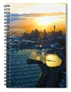 Auckland Oil On Canvaz Spiral Notebook