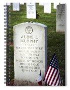 Audie Murphy - Most Decorated Spiral Notebook