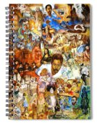 Audience With The Geniuses Of Art Spiral Notebook