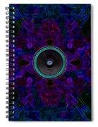 Audio Purple Glow Spiral Notebook