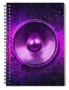 Audio Purple Spiral Notebook