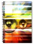 Audio Streaks Spiral Notebook
