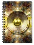 Audio Wall Burst 3 Spiral Notebook