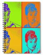 Audrey Hepburn 20130330v2 Four Spiral Notebook