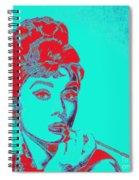 Audrey Hepburn 20130330v2p128 Square Spiral Notebook