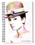 Audrey Hepburn 6 Spiral Notebook